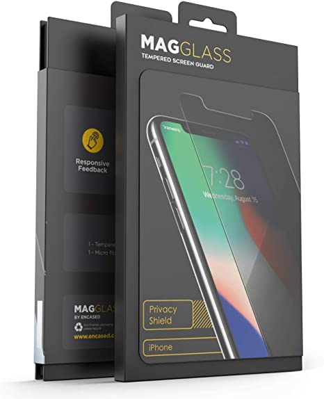 Magglass iPhone XR Tempered Glass Privacy Screen Protector