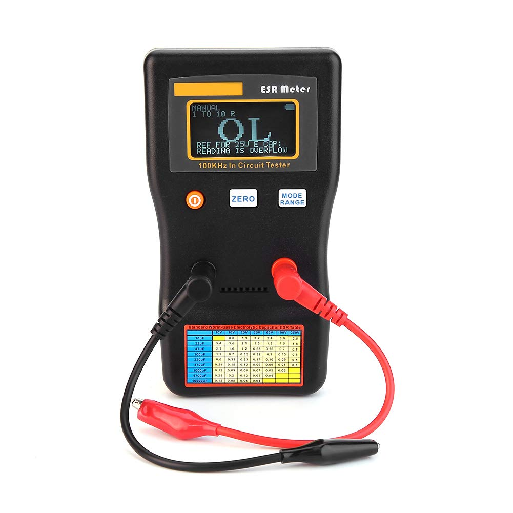 Signstek MESR-100V2 Auto-Ranging In-Circuit ESR LCR Meter