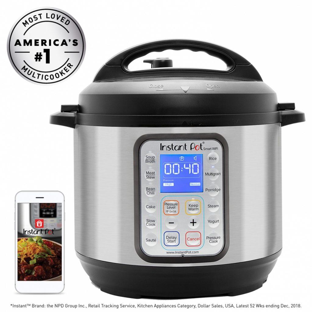 Instant Pot IP-Smart Bluetooth-Enabled Multifunctional Pressure Cooker