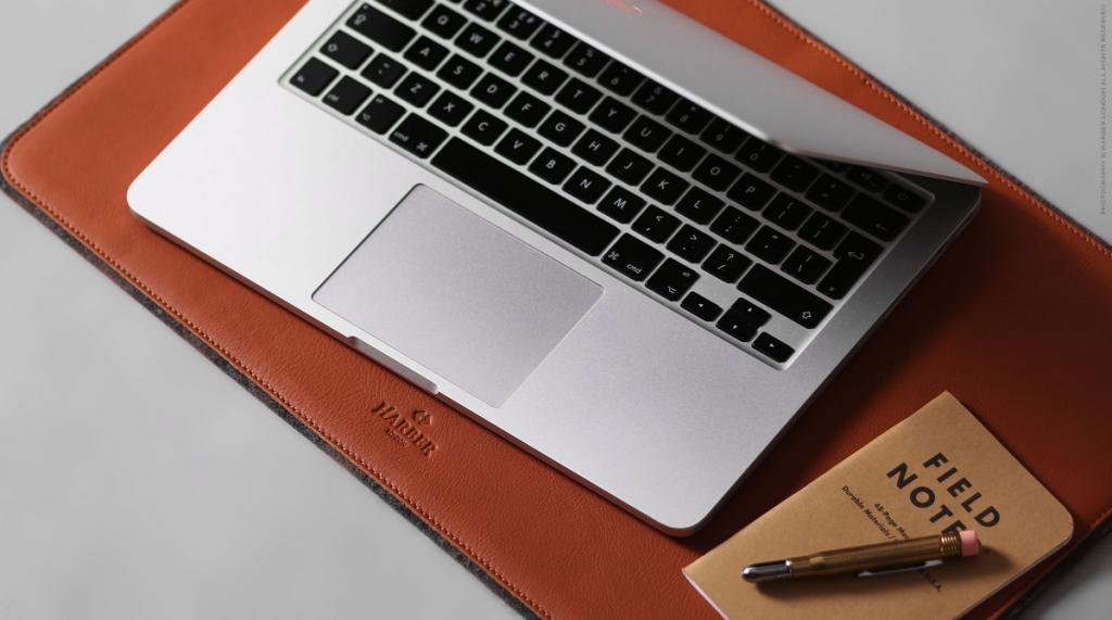 Harber London Leather & Felt Desk Mat