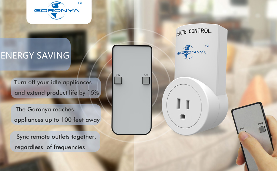 Goronya Wireless Remote Outlet Switch